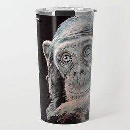 a Jane Goodall quote - black Travel Mug