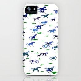 Blue Stampede iPhone Case