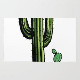 Cartoon Cactus Illustration Rug