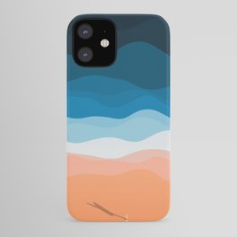 Lone Surfer On The Beach iPhone Case
