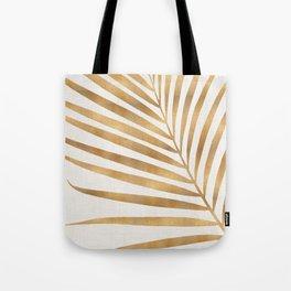 Metallic Gold Palm Leaf Tote Bag