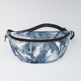 Blue palm trees Fanny Pack