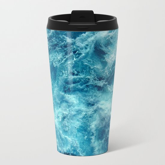 Ocean is shaking Metal Travel Mug