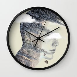 Natures spike Wall Clock