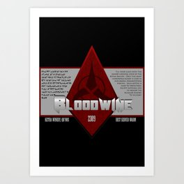 Fictional Brew - Bloodwine Art Print