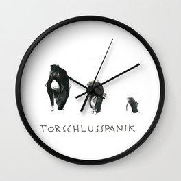 Torschlusspanik Wall Clock