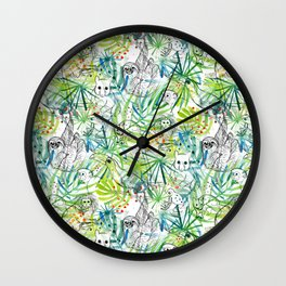 Endangered in the Rainforest Wall Clock