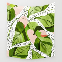Blushing Leaves #illustration #painting Wall Tapestry