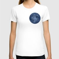 dark side of the moon T-shirts featuring Dark Side of the Moon - Painting by Nicole Cleary