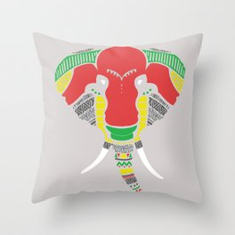 Colourful Elephant Throw Pillow