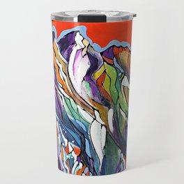 Freezing Hot Colorful Mountain Art Travel Mug