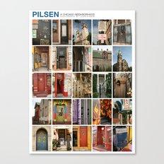 Pilsen Neighborhood Poster Canvas Print