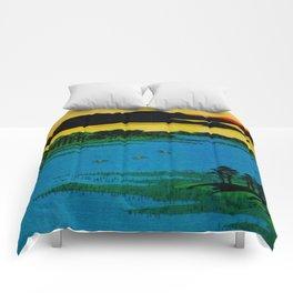 Sunset Contemplative Landscape Comforters