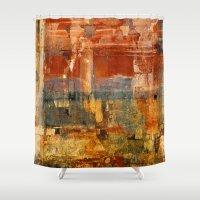 "mythology Shower Curtains featuring Quarup ""Kaurup"" by Fernando Vieira"