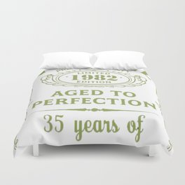 Green-Vintage-Limited-1982-Edition---35th-Birthday-Gift Duvet Cover