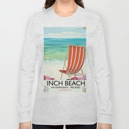 Inch Beach  An Daingean - ireland vintage travel poster Long Sleeve T-shirt