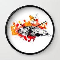 lamborghini Wall Clocks featuring Lamborghini Huracan by Claeys Jelle Automotive Artwork