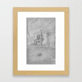Fear not the Ferryman Framed Art Print