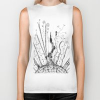 woods Biker Tanks featuring Woods by Andrew Mark Pickin