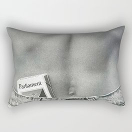 Pack of Parliament's, Bare Midriff black and white photograph / photography Rectangular Pillow