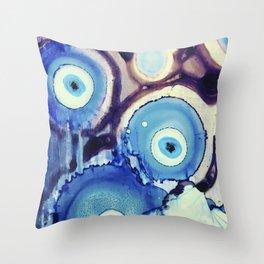 Evil Eye Tears Throw Pillow