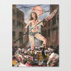 Pamela Horton's Zombie Slayer Canvas Print