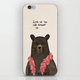Bear Dress Up Boa iPhone Skin