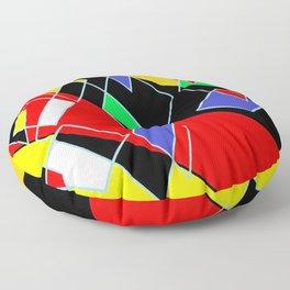 Abstract geo mult Floor Pillow