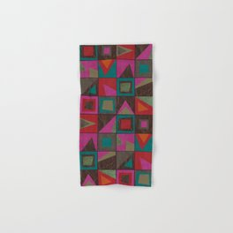 squares of colors and shreds Hand & Bath Towel