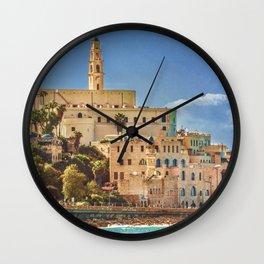 Old Jaffa Cityscape, Israel Wall Clock