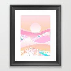 Sunrise Swirls Framed Art Print