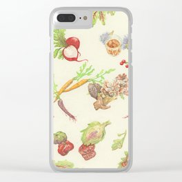 Fall Food Clear iPhone Case