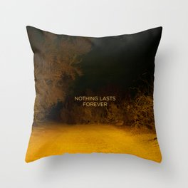 Nothing Lasts Forever Throw Pillow