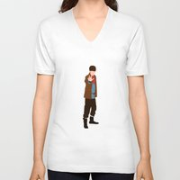 merlin V-neck T-shirts featuring Merlin by carolam