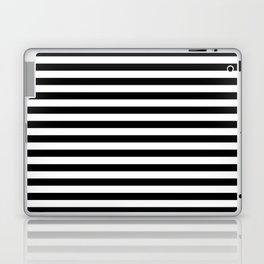 Modern Black White Stripes Monochrome Pattern Laptop & iPad Skin