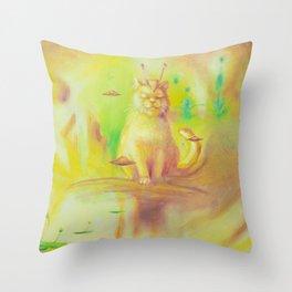 Zen Cat Throw Pillow