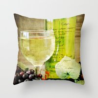 wine Throw Pillows featuring Wine by ThePhotoGuyDarren