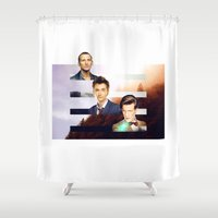 doctor who Shower Curtains featuring doctor who? by Lorena