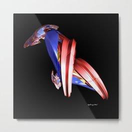 Red Bird Blue Bird Metal Print