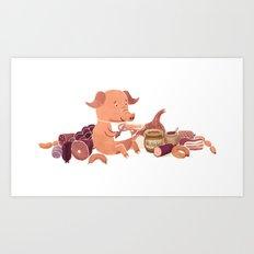 Cochon Art Print