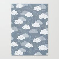 rain Canvas Prints featuring RAIN CLOUDS by Daisy Beatrice