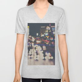 Las Vegas ... the neon town!  Unisex V-Neck