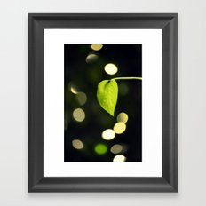 Leaf & light Framed Art Print