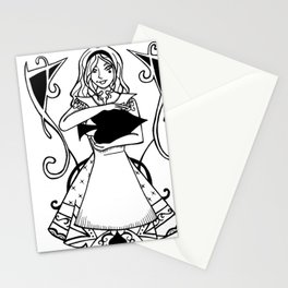 Alice - Queen of Spades Stationery Cards
