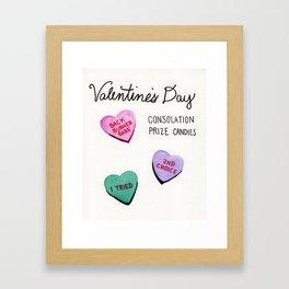 consolation valentines Framed Art Print