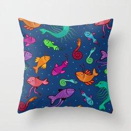 extraordinary sea creatures Throw Pillow