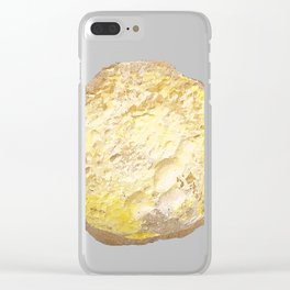 Brown Regag bread with eggs Clear iPhone Case