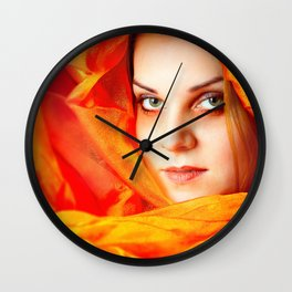 Colour: Red Wall Clock