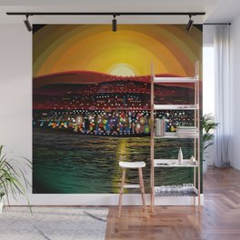Angel Island Sunset (Square) Wall Mural