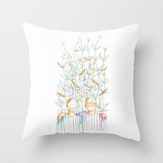 Young plants (Jeunes pousses) Throw Pillow
